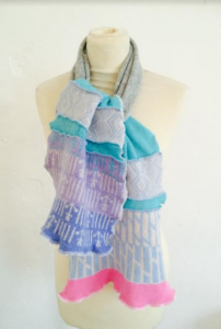 Grey Patch Scarf (short)