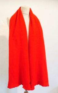 Heirloom red scarf