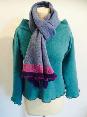 glitter triangles scarf