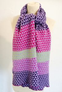 berry triangles scarf