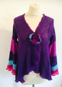Purple stripe sweater