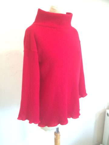 Ruby Red Rollneck Sweater