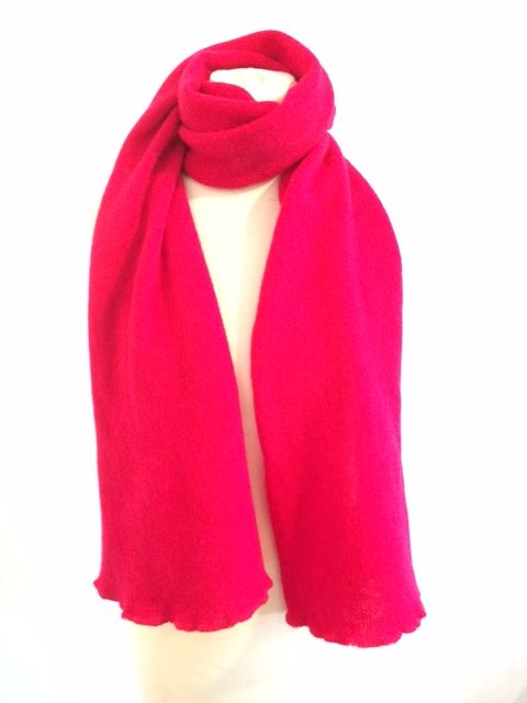 Cherry red scarf